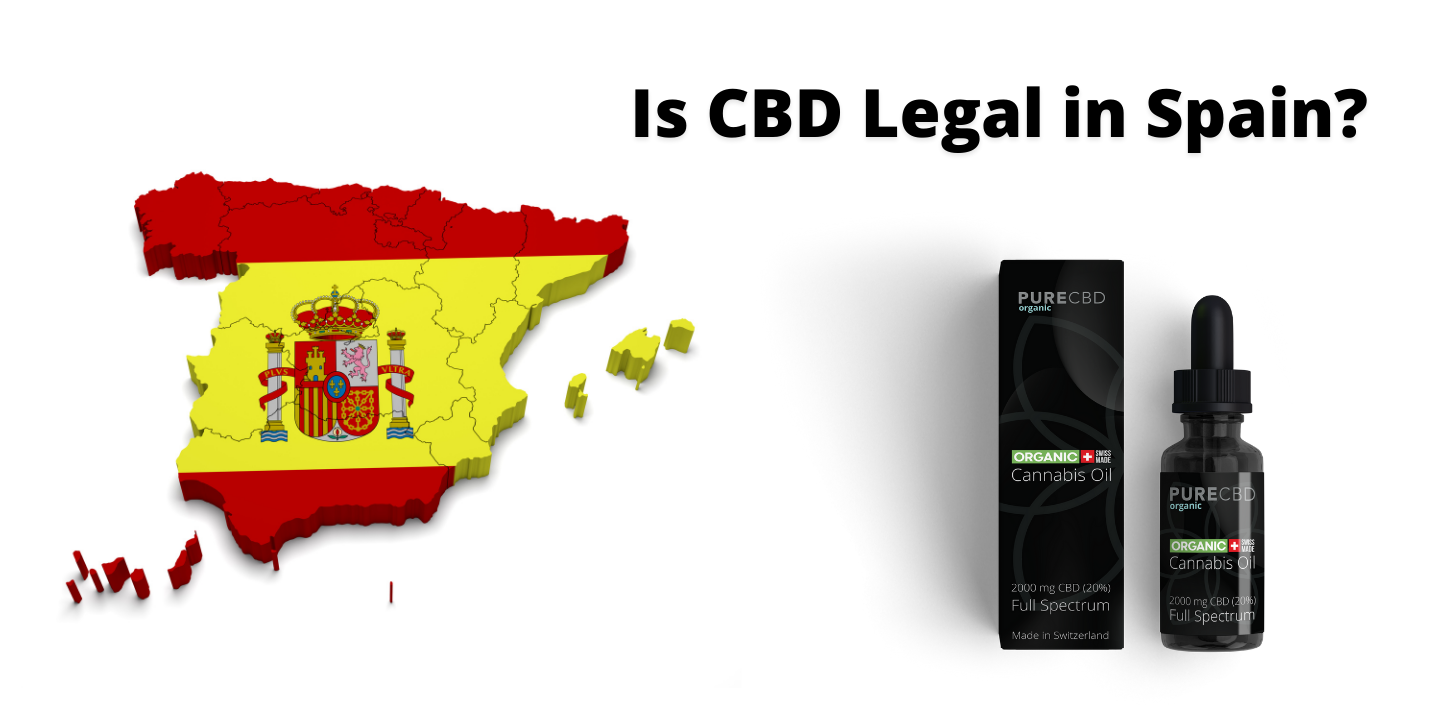 Is CBD Legal in Spain? Here is a photo showing CBD and a Map of Spain