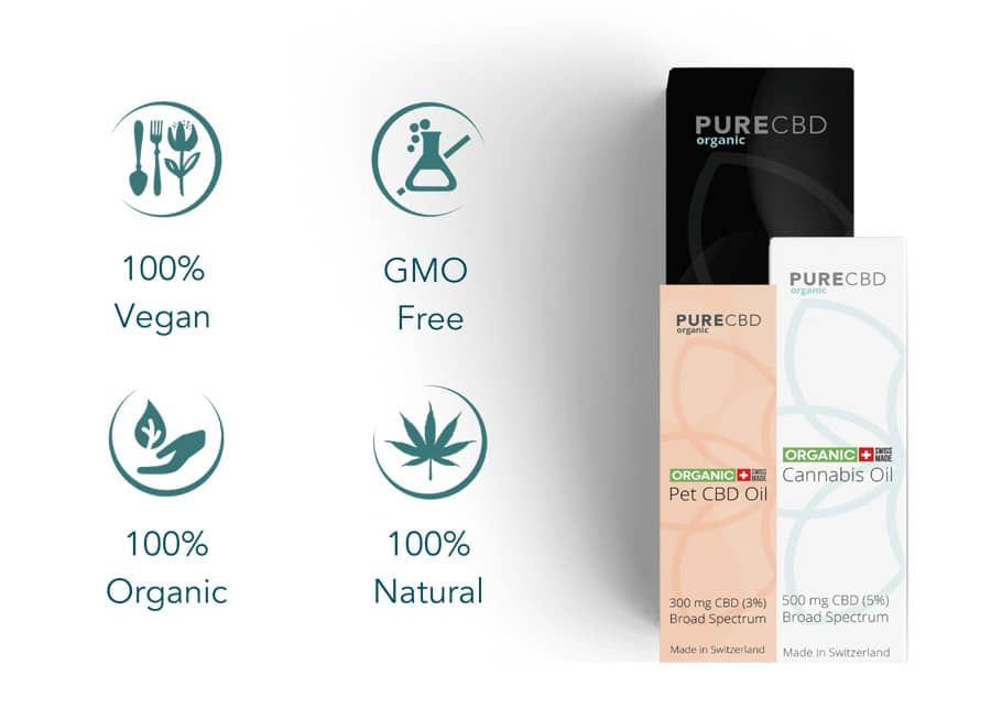 vegan gmo free organic natural CBD oil uk