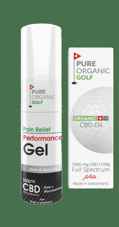 pure organic golf CBD cream and CBD oil
