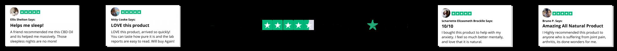 our trust pilot reviews on CBD oil